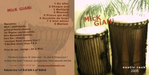 Mick giani - Album Exotic 2005